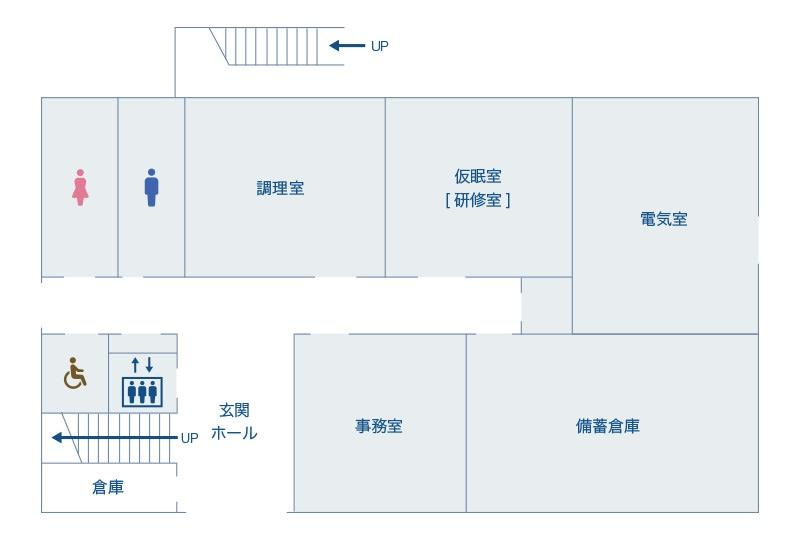 本館1階の地図