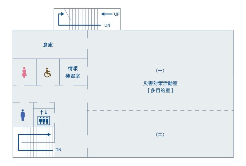 本館2階の地図